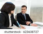 business meeting in office | Shutterstock . vector #623638727