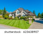 big custom made luxury house... | Shutterstock . vector #623638907