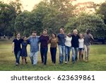 group of diversity people... | Shutterstock . vector #623639861