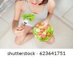 beautiful young asian girl... | Shutterstock . vector #623641751