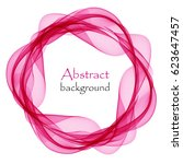 abstract background with pink... | Shutterstock .eps vector #623647457