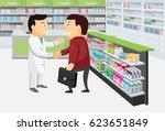 modern interior pharmacy and...   Shutterstock .eps vector #623651849