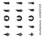 arrow icon vector set | Shutterstock .eps vector #623652155