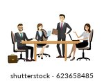 group of working people ... | Shutterstock .eps vector #623658485