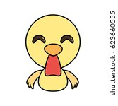 draw chicken animal comic | Shutterstock .eps vector #623660555