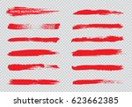 hand painted brush strokes... | Shutterstock .eps vector #623662385