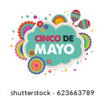 cinco de mayo   may 5  federal... | Shutterstock .eps vector #623663789