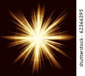 square golden explosion of... | Shutterstock .eps vector #62366395