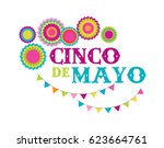 cinco de mayo   may 5  federal... | Shutterstock .eps vector #623664761