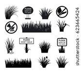 garden or park signs. do not... | Shutterstock .eps vector #623665424