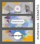 geometrical flyer template.... | Shutterstock .eps vector #623666711