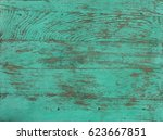 Peeling Green Paint On A Woode...
