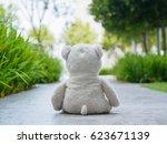 Lonely Teddy Bear Sitting On...