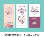 set of happy mothers day... | Shutterstock .eps vector #623672549
