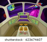 Cartoon Spaceship Cabin...