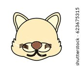 drawing wolf face animal | Shutterstock .eps vector #623675315