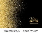 festive background with falling ... | Shutterstock .eps vector #623679089
