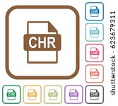 chr file format simple icons in ... | Shutterstock .eps vector #623679311