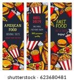 fast food restaurant vector... | Shutterstock .eps vector #623680481