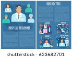 hospital personnel. vector... | Shutterstock .eps vector #623682701