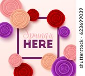 spring sale background with... | Shutterstock .eps vector #623699039