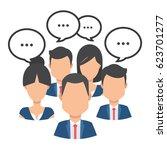 business people team talking in ... | Shutterstock .eps vector #623701277