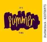 it's summer time. trendy... | Shutterstock .eps vector #623706971