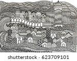 free hand illustration for... | Shutterstock . vector #623709101