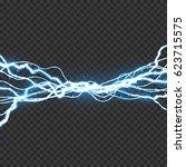 electric lightning bolt. energy ... | Shutterstock .eps vector #623715575
