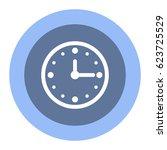 clock icon  flat design style | Shutterstock .eps vector #623725529