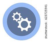gear icon  flat design style | Shutterstock .eps vector #623725541