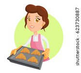 Cooking Woman With Croissant