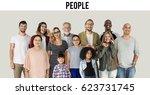diversity of people generations ... | Shutterstock . vector #623731745