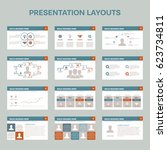 set of 12 presentation layouts...