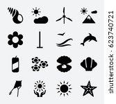 Nature Icon. Set Of 16 Nature...