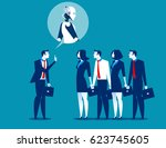 manager meeting and talk about... | Shutterstock .eps vector #623745605