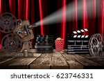 cinema concept of vintage film... | Shutterstock . vector #623746331