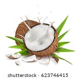 close up of a coconuts with... | Shutterstock . vector #623746415