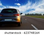 car on the asphalt road.   Shutterstock . vector #623748164