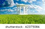 white wood gazebo in the...   Shutterstock . vector #62375086