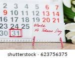image of may 31 calendar on... | Shutterstock . vector #623756375