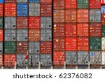 freight shipping containers at... | Shutterstock . vector #62376082