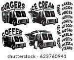 set of vector mobile shops ... | Shutterstock .eps vector #623760941