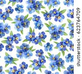 seamless floral pattern with... | Shutterstock . vector #623764709