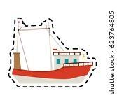 ship icon image  | Shutterstock .eps vector #623764805