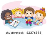 illustration featuring kids... | Shutterstock .eps vector #62376595