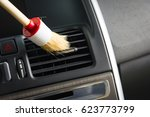 brush cleaning off dust from... | Shutterstock . vector #623773799