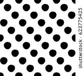 vector seamless pattern. black... | Shutterstock .eps vector #623775425