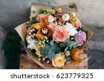 colorful  bouquet of different...   Shutterstock . vector #623779325