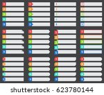 chart table vector  numbered... | Shutterstock .eps vector #623780144